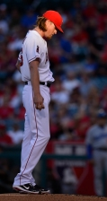 Jered Weaver #36 returns to the mound for his 100th career start at the Big A. Photo by Matt Brown/Angels Baseball LP