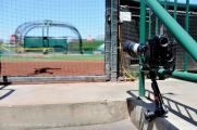 General view of the home plate remote camera. Photo by Jordan Murph/Angels Baseball LP
