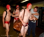 2013 Angels rookies as water polo players for the traditional Rookie Hazing. Photo by Matt Brown/Angels Baseball LP
