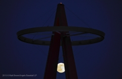 Super moon, Big A, halo. Photo by Jordan Murph/Angels Baseball LP
