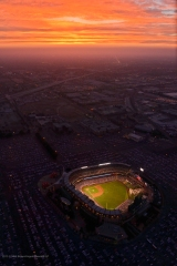 Stadium wide, sunset. Photo by Matt Brown/Angels Baseball LP