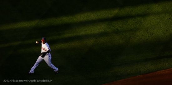 Erick Aybar #2 throwing. Photo by Matt Brown/Angels Baseball LP