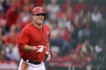 Mike Trout smiling