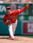 C.J. Wilson pitching