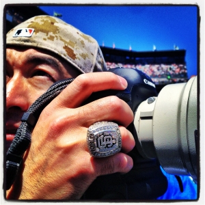 SAN FRANCISCO - MAY 26:  Instagram of Andy Kuno's World Series ring during the game between the Colorado Rockies and San Francisco Giants at AT&T Park on May 26, 2013 in San Francisco, California. Photo by Brad Mangin