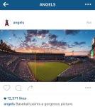Angel Stadium at Dusk